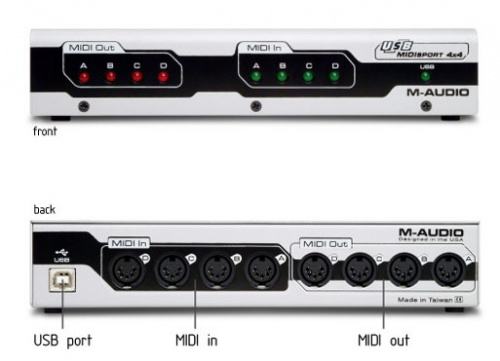 M-Audio MidiSport 4x4 USB по цене 9 230 руб.